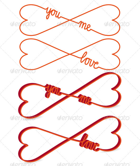 GraphicRiver Heart Shaped Infinity Sign Vector 3614461