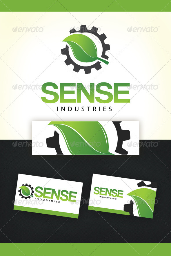 Sense Industries Logo Template