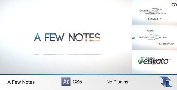 VideoHive A Few Notes 3592241