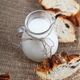 Glass jug with milk and bread - PhotoDune Item for Sale