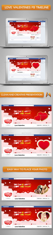 GraphicRiver love valentine FB Timeline 3614642