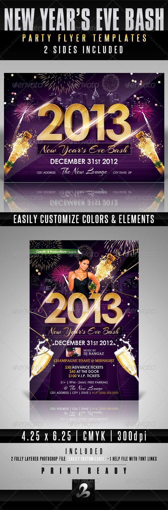 New Year's Eve Bash Party Flyer Templates - Clubs & Parties Events