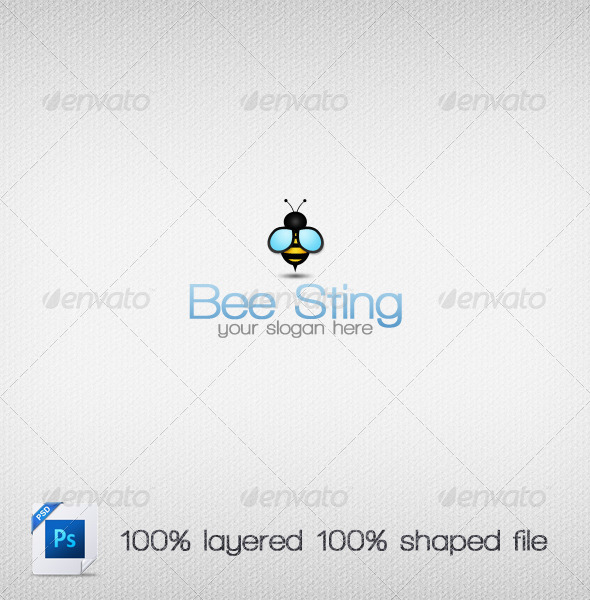 GraphicRiver Bee Sting Logo Template 3614739