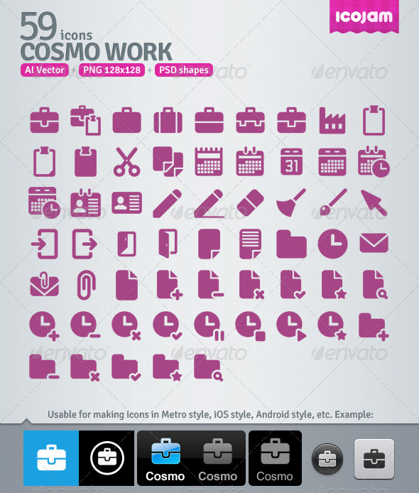 59 AI and PSD Work Icons - Media Icons