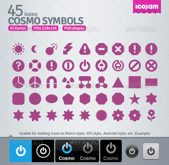 45 AI and PSD Symbols Icons - Media Icons