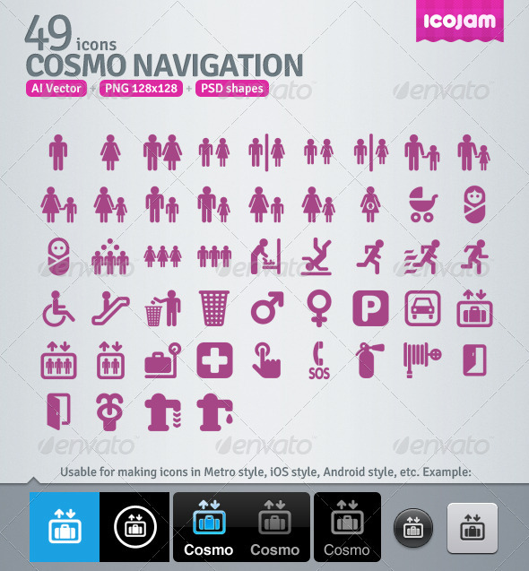 GraphicRiver 49 AI and PSD Navigation Icons 3363156