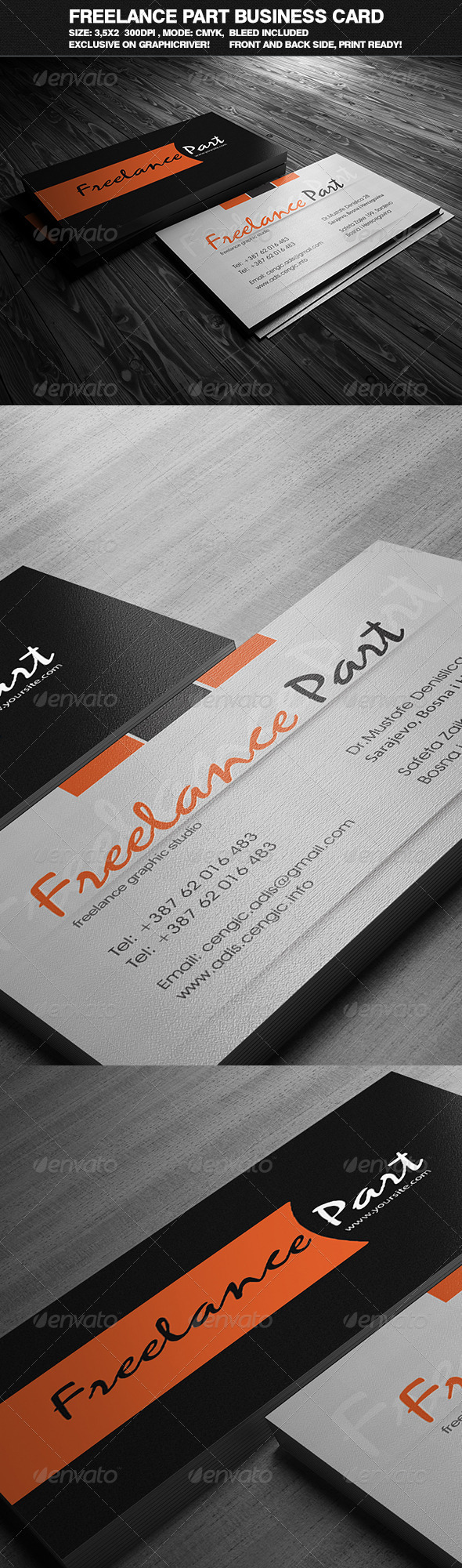 Freelance Part Business Card - Corporate Business Cards