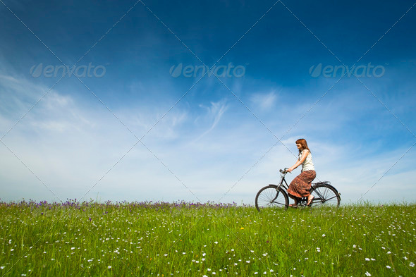 Riding a bicycle - Stock Photo - Images