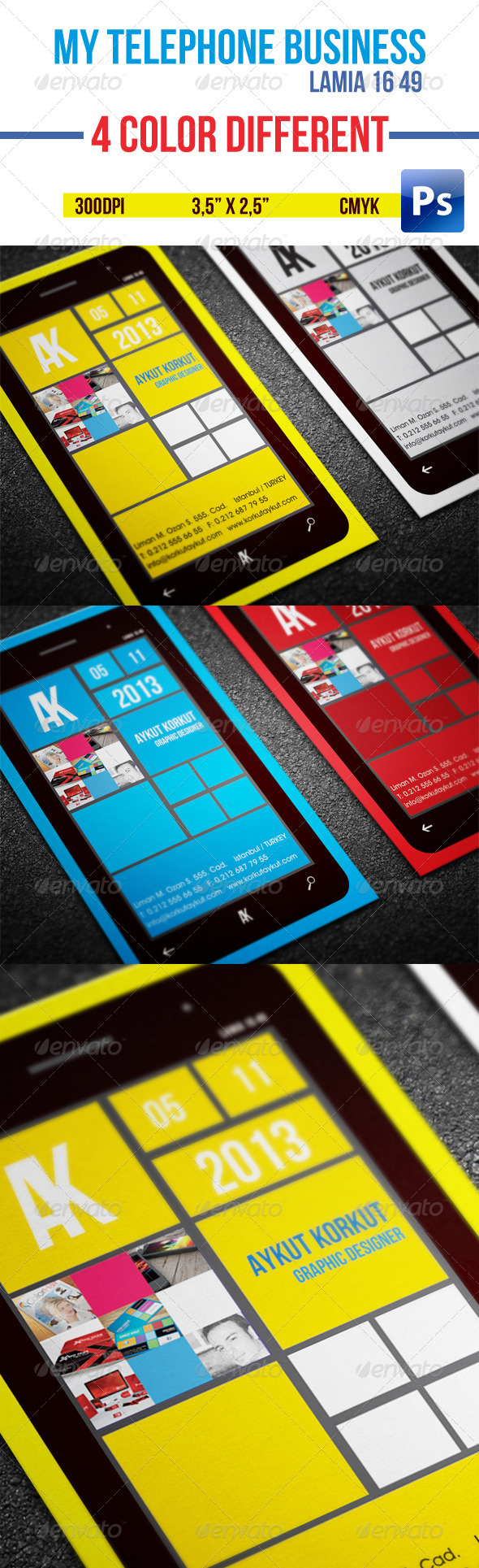 GraphicRiver My Telephone Business Cards 3577721