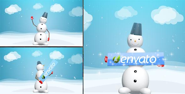 VideoHive Snowman Logo Reveal 3615140