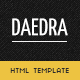 Daedra - Creative Portfolio HTML Template - ThemeForest Item for Sale