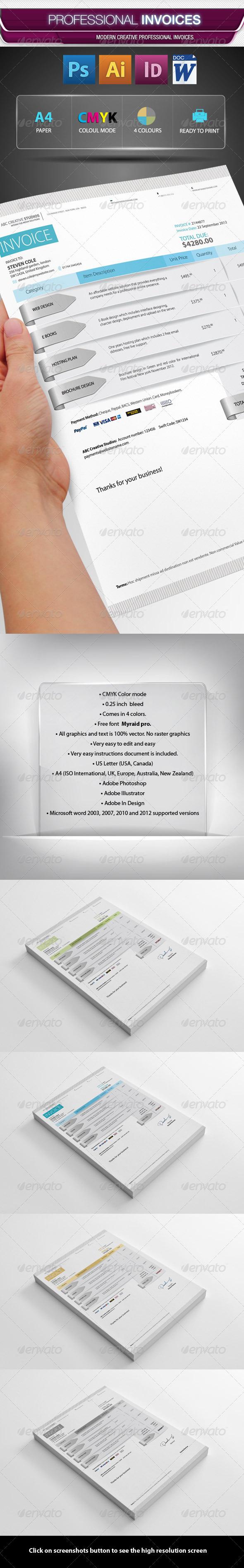 GraphicRiver Professional Invoice Pack 3616828