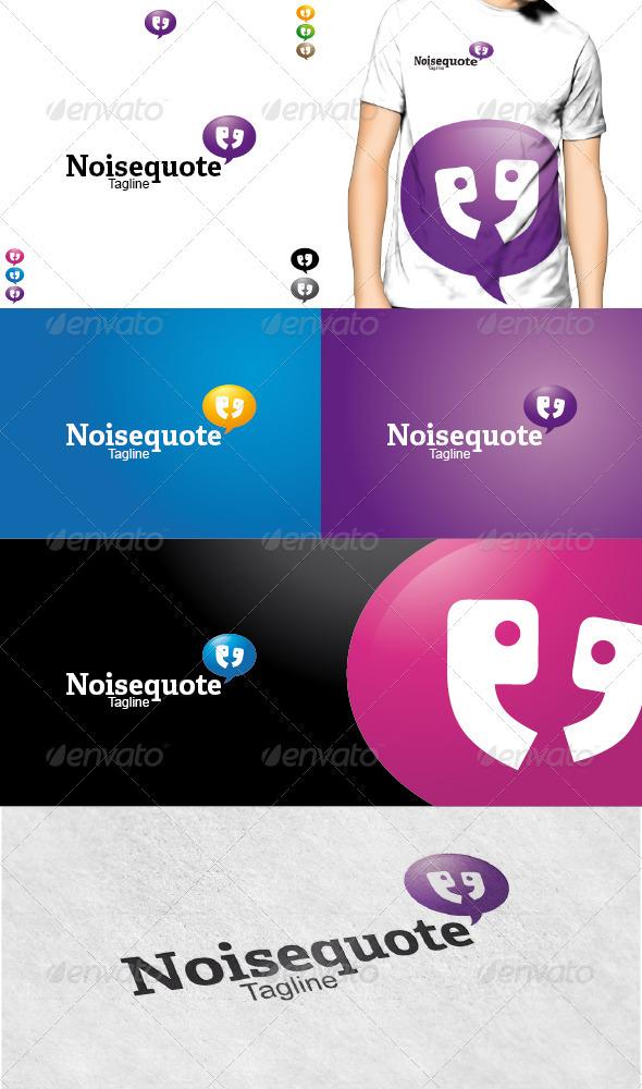 GraphicRiver Noisequotes Logo 3617224