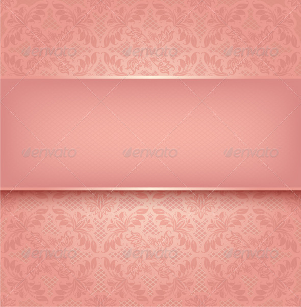GraphicRiver Pink Floral Background 3617485