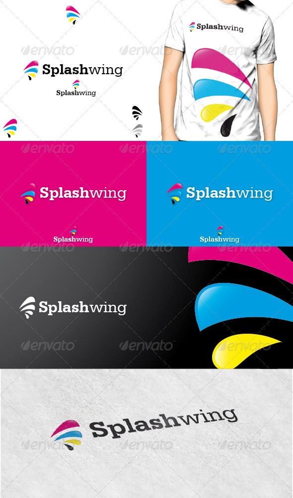 GraphicRiver Splashwing Logo 3617491
