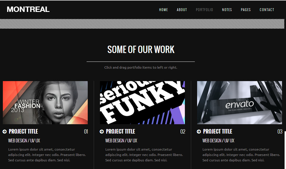 Montreal Responsive Interactive Creative Template