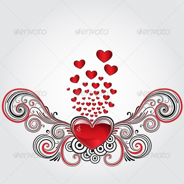GraphicRiver Grunge Heart 3617931