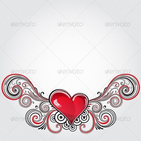 GraphicRiver Grunge Heart 3617964