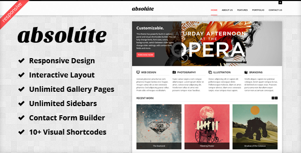 ThemeForest Absolute Interactive & Responsive WP Theme 2422552