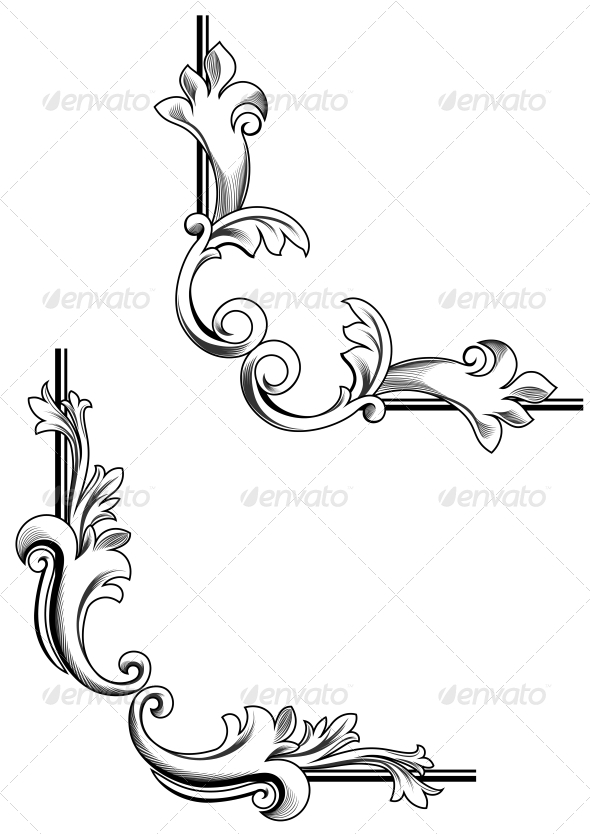 GraphicRiver Swirl Elements 3617980