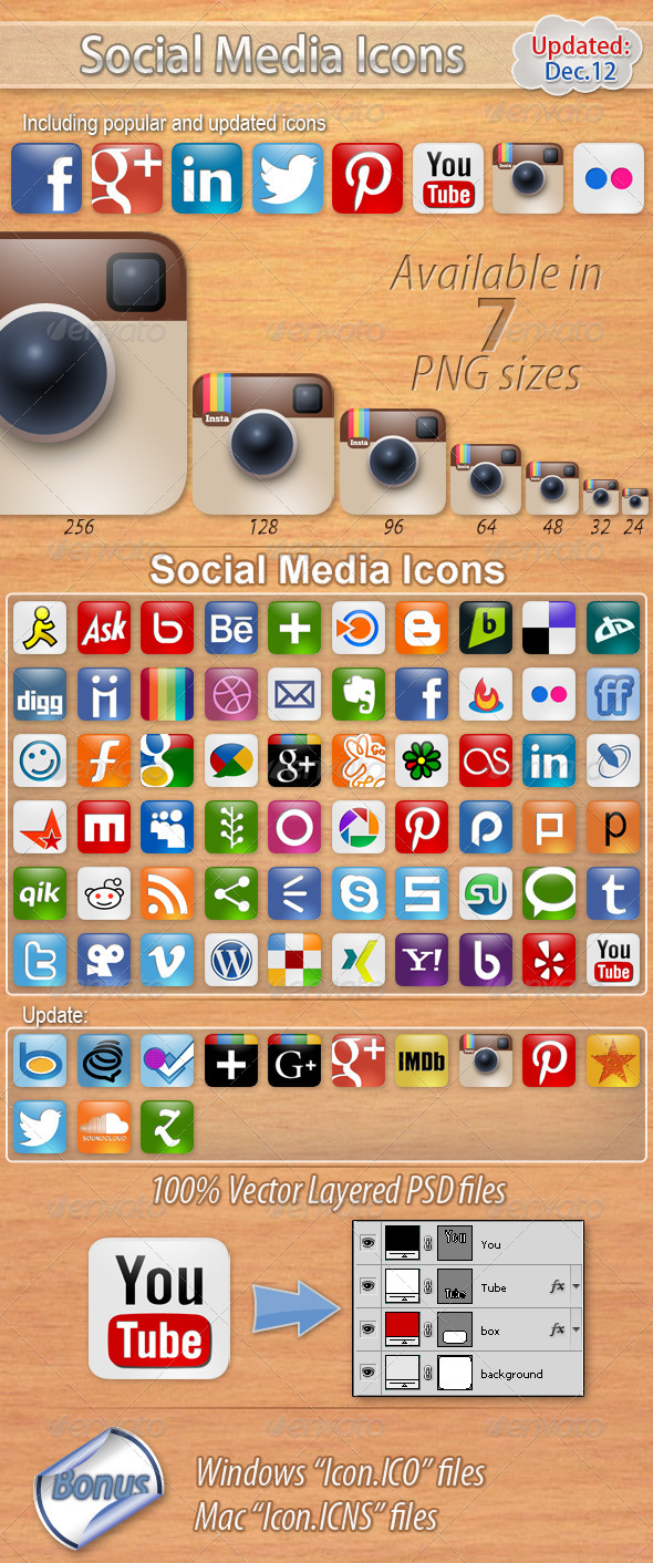 GraphicRiver 60 Social Media Icons 506392