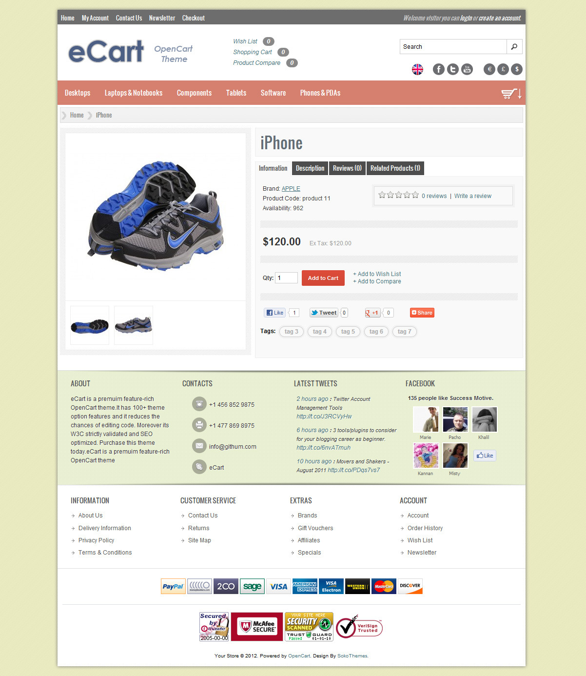 eCart - Premium OpenCart Theme