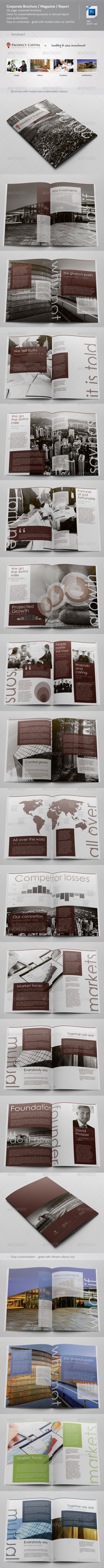 GraphicRiver Corporate Brochure Magazine Annual Report 3618259