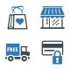 Shopping and E-commerce Icons Set 2 - Blue Series - GraphicRiver Item for Sale