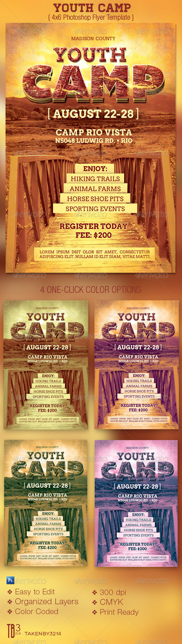 Youth Camp Flyer Template - Church Flyers
