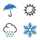 Weather Icons - Blue Series - GraphicRiver Item for Sale