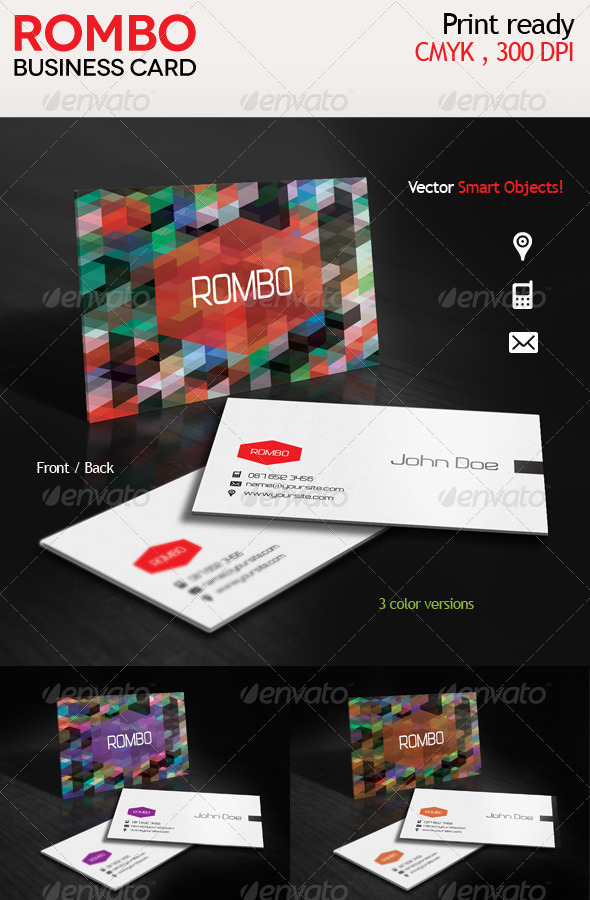 GraphicRiver Rombo Creative Business Card 3618404