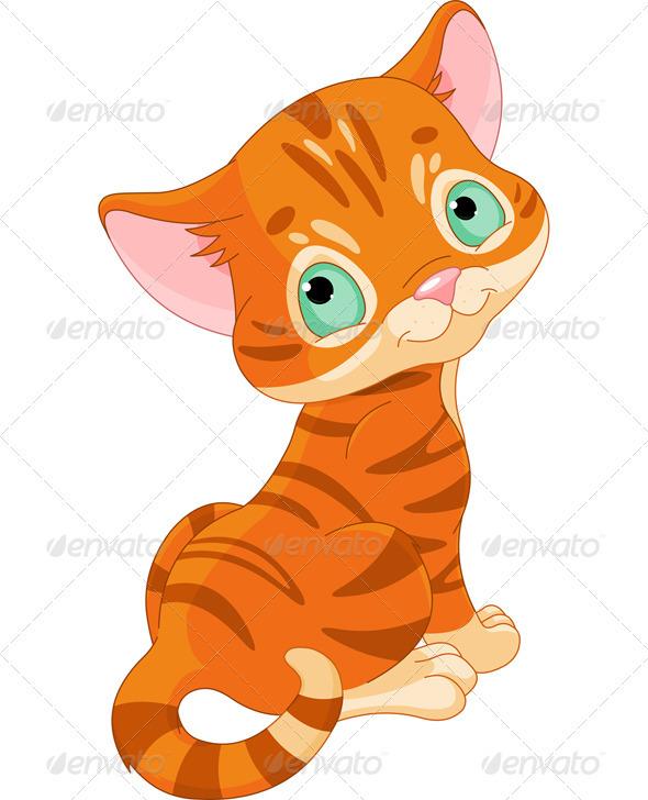 GraphicRiver Cute Kitten 3618707