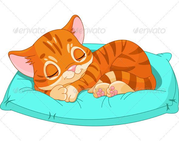 GraphicRiver Sleeping Kitten 3618766