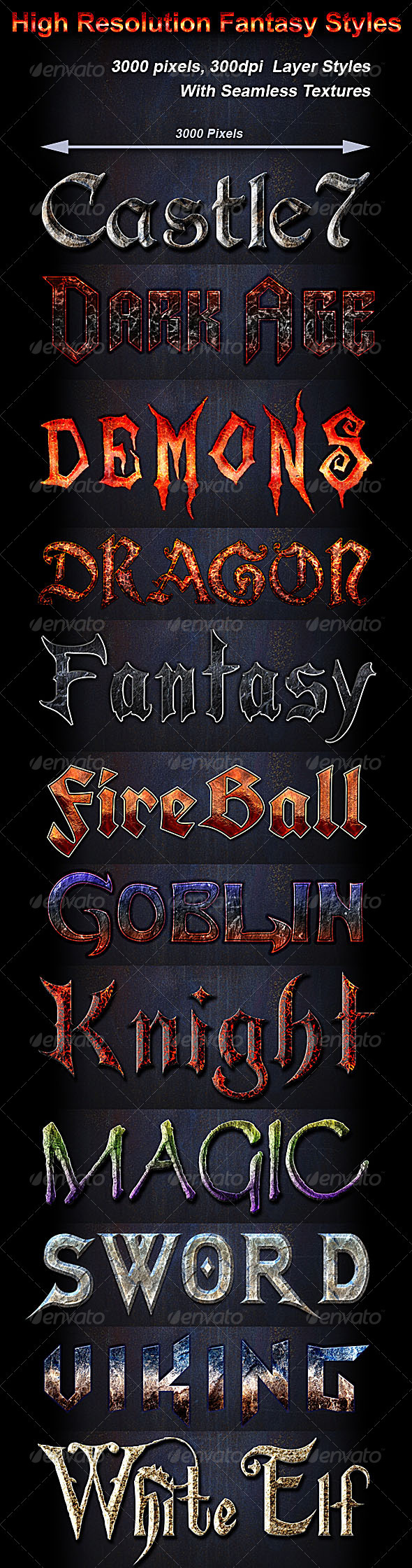GraphicRiver High Resolution Fantasy Styles 3580328