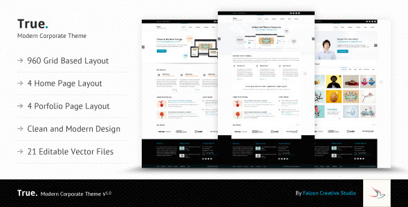 True - Multi Purpose Ai Template - Corporate PSD Templates