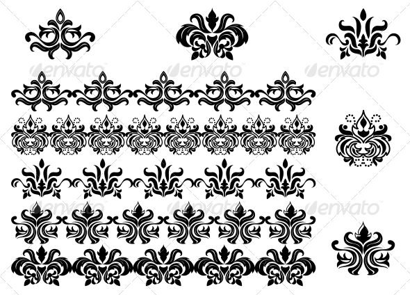 GraphicRiver Flower Patterns and Borders 3619372
