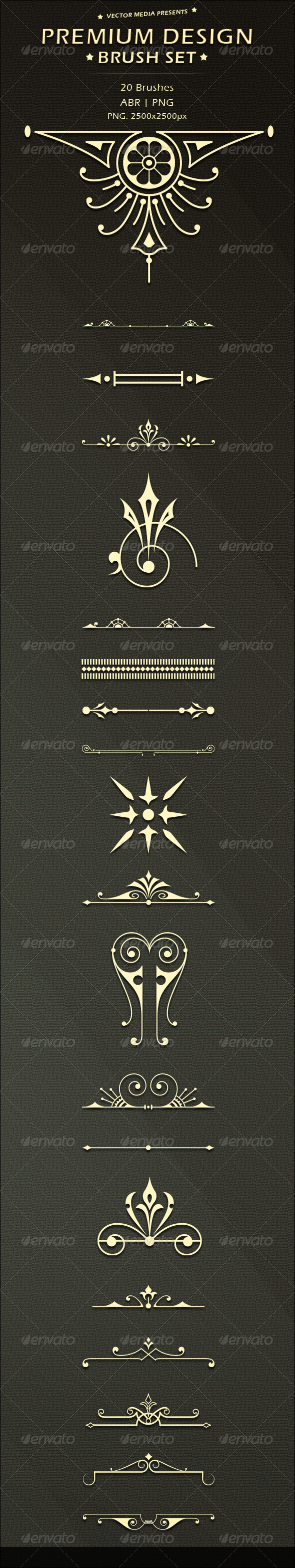 GraphicRiver Premium Design Brush Set 3619392