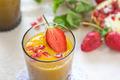 Mango and Pomegranate smoothie