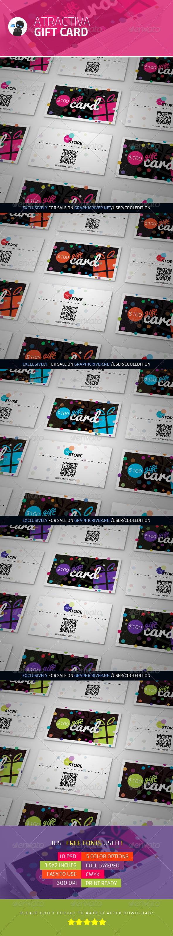 GraphicRiver Atractiva Gift Card 3619668