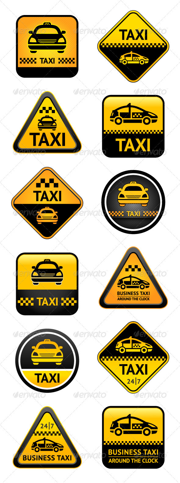 GraphicRiver Taxi Set Buttons 3619890
