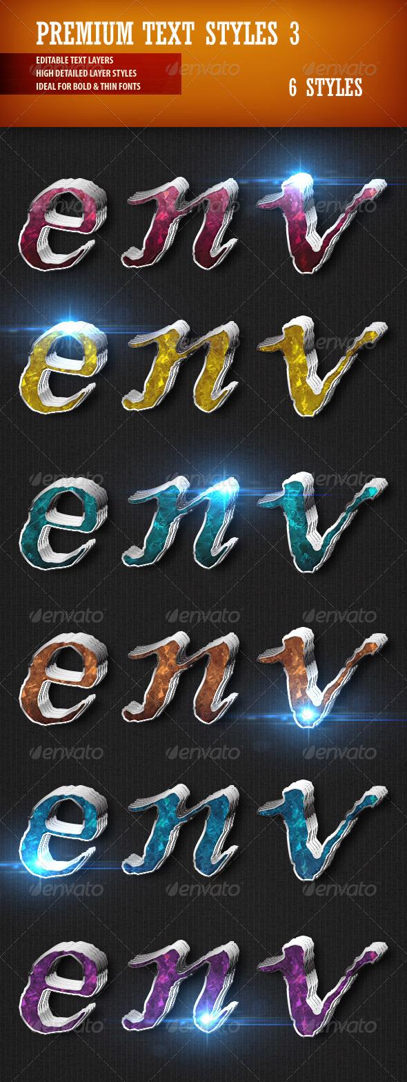 GraphicRiver Premium Text Styles 3 3620832