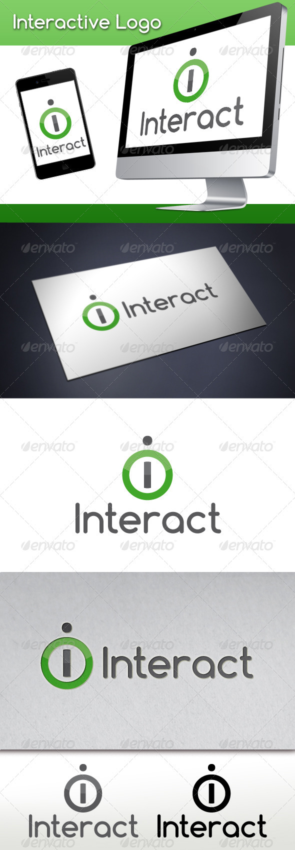 GraphicRiver Interactive Letter I Logo Template 3567619