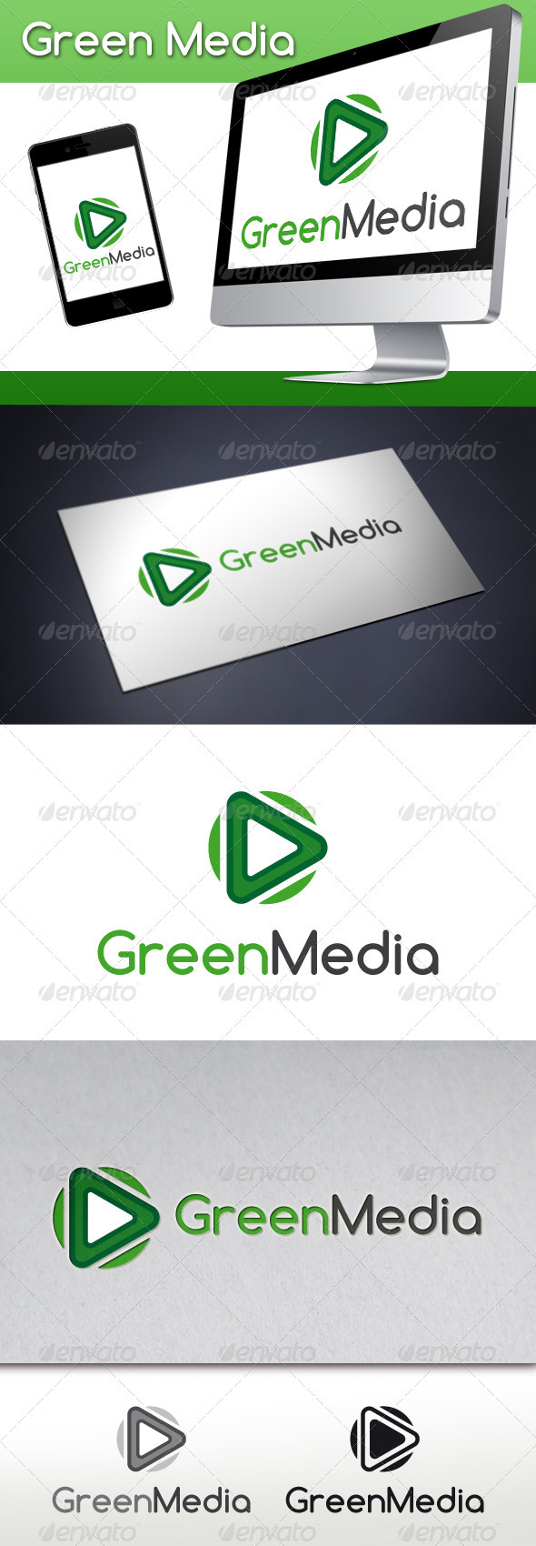 GraphicRiver Green Media Logo Template 3567721