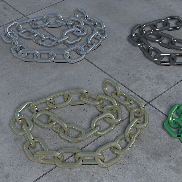 3DOcean 25 Link Poseable Chain 3621412