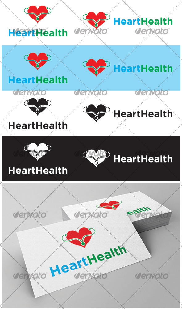 GraphicRiver Heart Health Logo 3621496