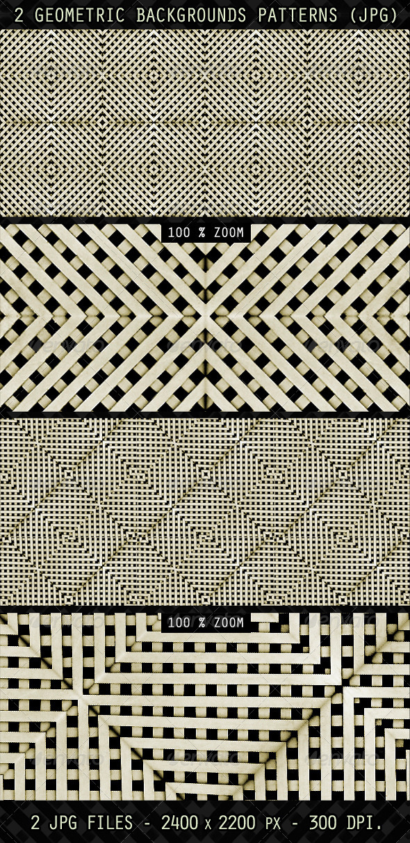 2 Geometric Backgrounds Patterns - Patterns Backgrounds