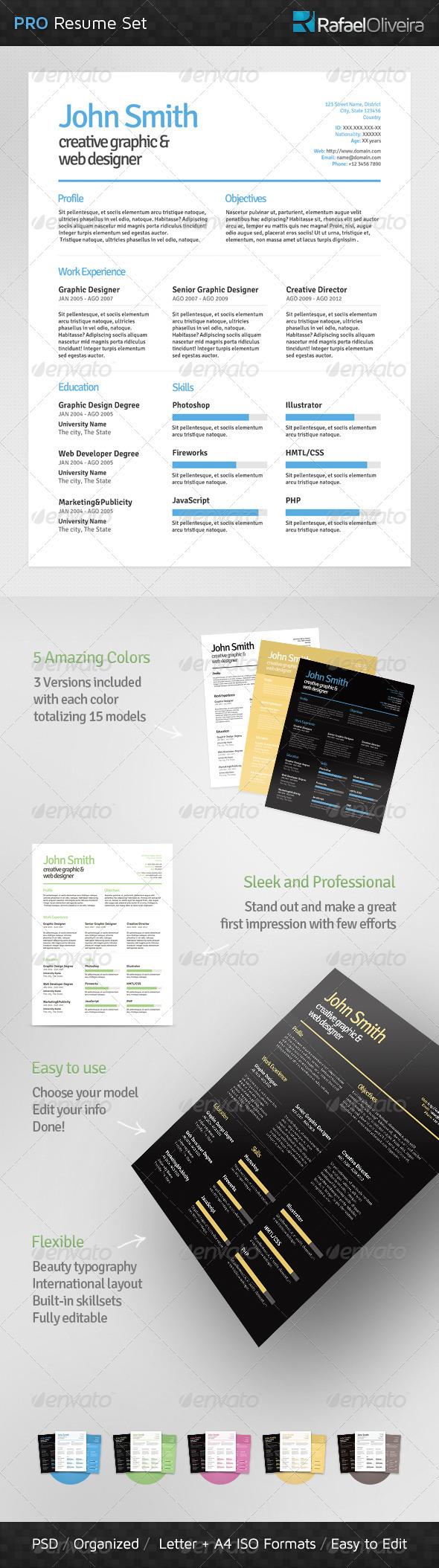 GraphicRiver Pro Resume Set 3520204