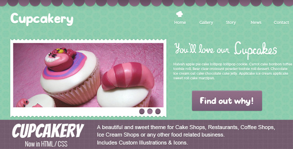 ThemeForest Cupcakery HTML 2832613