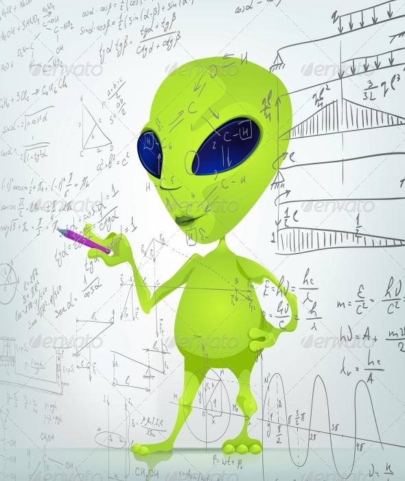 GraphicRiver Cartoon Character Alien 3622185