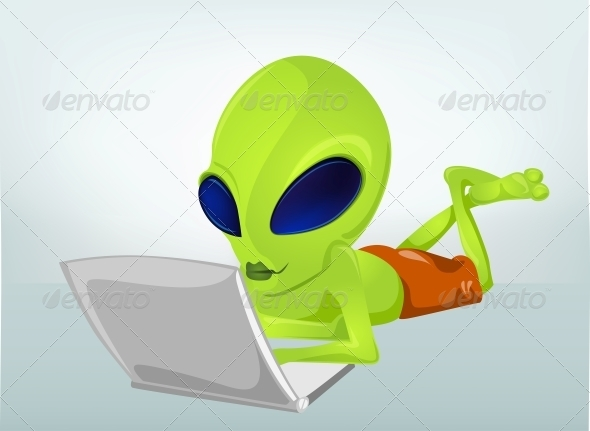 GraphicRiver Cartoon Character Alien 3622187